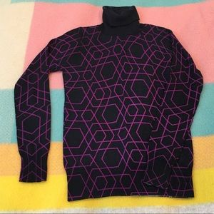 EUC J. Crew Merino wool geometric turtleneck